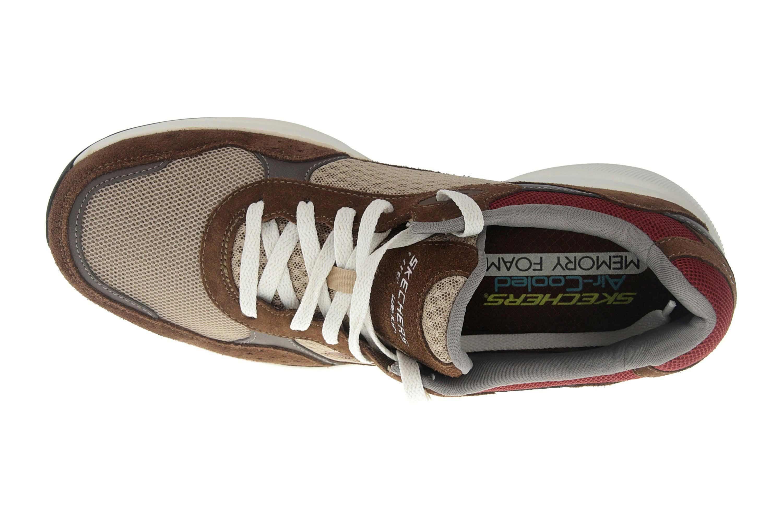 Skechers MERIDIAN Sneakers in Übergrößen Braun 52952 BRN große Herrenschuhe – Bild 7