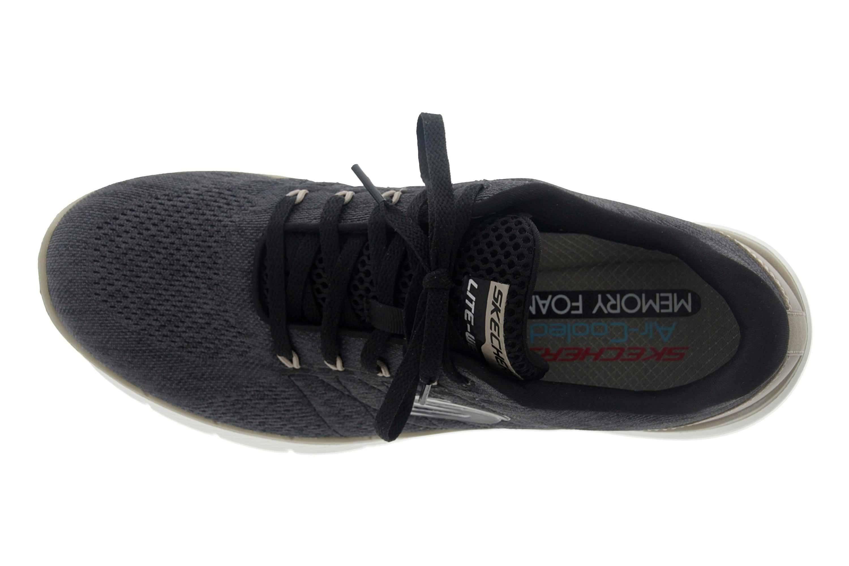 Skechers FLEX ADVANTAGE 3.0 STALLY Sportschuhe in Übergrößen Schwarz 52957 BLK große Herrenschuhe – Bild 7