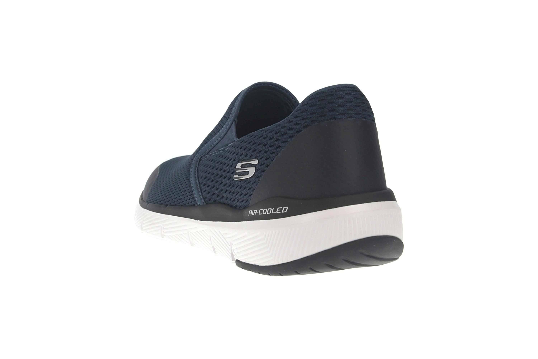 Skechers FLEX ADVANTAGE 3.0 MORWICK Sneakers in Übergrößen Blau 52961 NVBK große Herrenschuhe – Bild 2