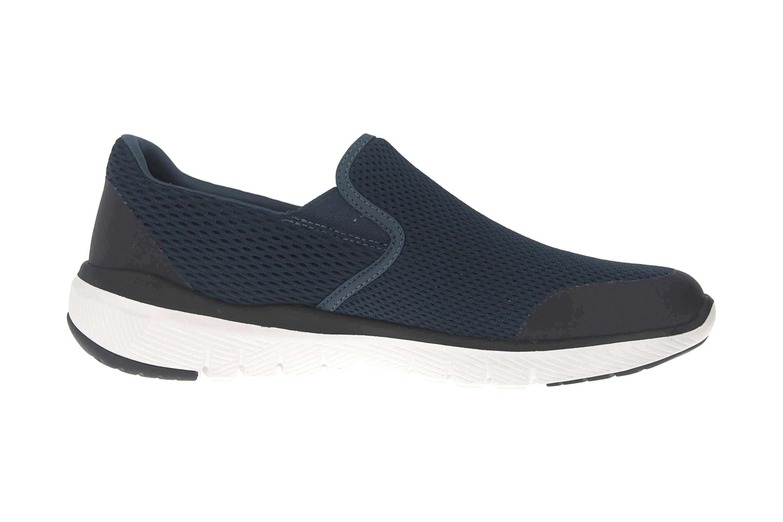 Skechers FLEX ADVANTAGE 3.0 MORWICK Sneakers in Übergrößen Blau 52961 NVBK große Herrenschuhe – Bild 4