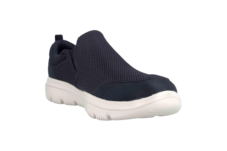 Skechers GO WALK EVOLUTION ULTRA IMPECCABLE Sneakers in Übergrößen Blau 54738 NVGY große Herrenschuhe – Bild 5
