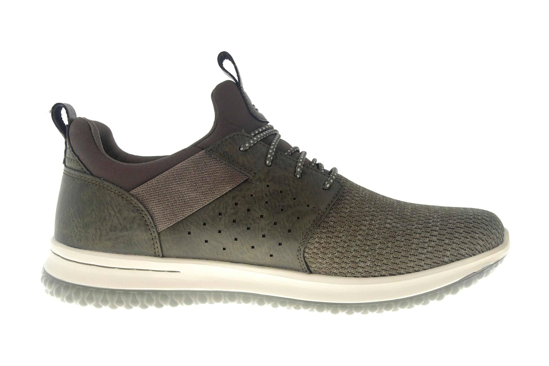 Skechers DELSON CAMBEN Sneakers in Übergrößen Grün 65474 OLV große Herrenschuhe – Bild 4