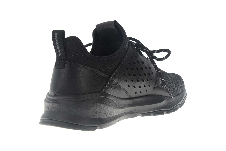 Skechers RELVEN VELTON Sneakers in Übergrößen Schwarz 65659 BBK große Herrenschuhe – Bild 3