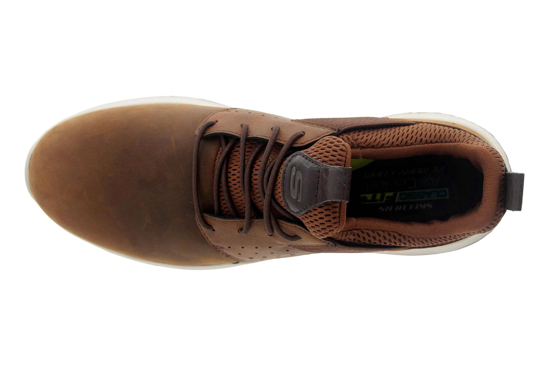 Skechers DELSON AXTON Sneakers in Übergrößen Braun 65870 CDB große Herrenschuhe – Bild 7