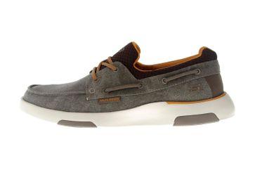 Skechers BELLINGER GARMO Sneakers in Übergrößen Braun 65896 BRN große Herrenschuhe – Bild 1