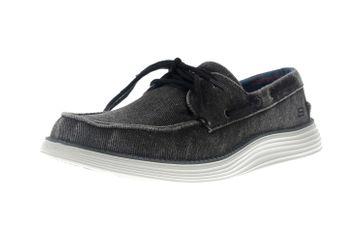 Skechers STATUS 2.0 LORANO Sneakers in Übergrößen Schwarz 65908 BLK große Herrenschuhe – Bild 6