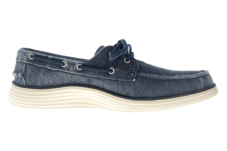 Skechers STATUS 2.0 LORANO Sneakers in Übergrößen Blau 65908 NVY große Herrenschuhe – Bild 4
