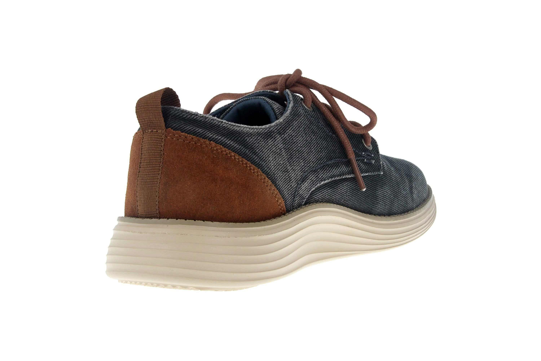 Skechers STATUS 2.0 PEXTON Sneakers in Übergrößen Blau 65910 NVY große Herrenschuhe – Bild 3