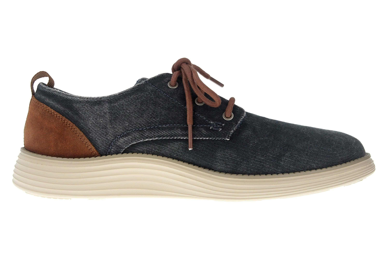 Skechers STATUS 2.0 PEXTON Sneakers in Übergrößen Blau 65910 NVY große Herrenschuhe – Bild 4