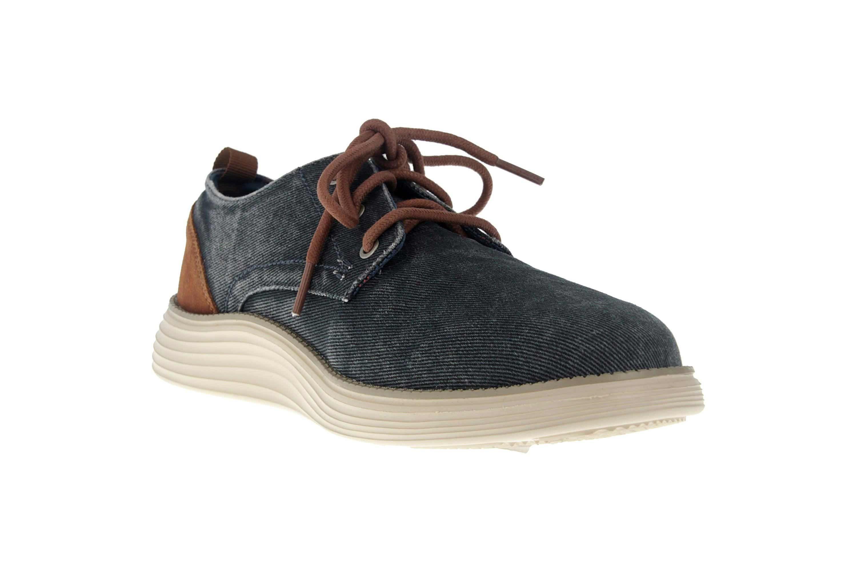Skechers STATUS 2.0 PEXTON Sneakers in Übergrößen Blau 65910 NVY große Herrenschuhe – Bild 5