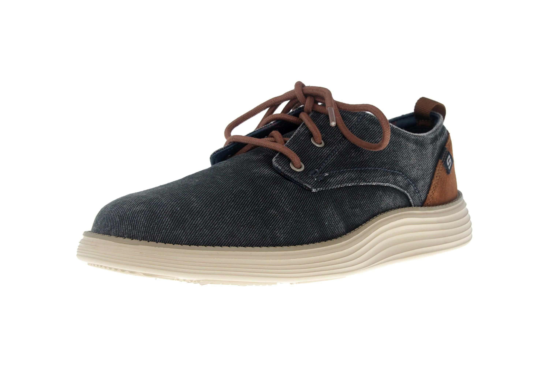 Skechers STATUS 2.0 PEXTON Sneakers in Übergrößen Blau 65910 NVY große Herrenschuhe – Bild 6