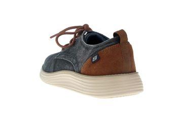 Skechers STATUS 2.0 PEXTON Sneakers in Übergrößen Blau 65910 NVY große Herrenschuhe – Bild 2