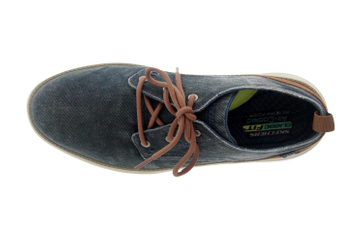 Skechers STATUS 2.0 PEXTON Sneakers in Übergrößen Blau 65910 NVY große Herrenschuhe – Bild 7