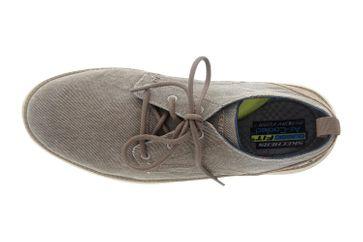Skechers STATUS 2.0 PEXTON Sneakers in Übergrößen Grau 65910 TPE große Herrenschuhe – Bild 7