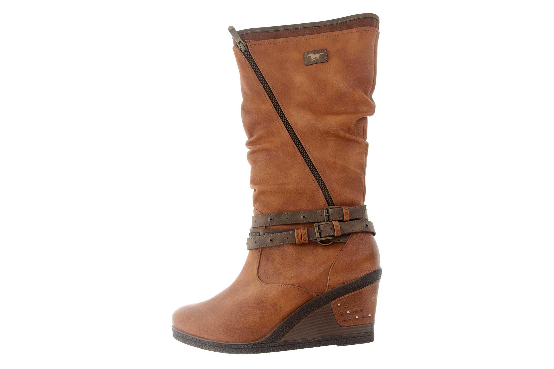 Mustang Shoes Stiefel in Übergrößen Braun 1083-507-300 große Damenschuhe – Bild 1