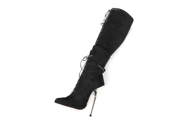 GIARO Brainbuster Black Velour Stiefel in Übergrößen Schwarz große Damenschuhe – Bild 8