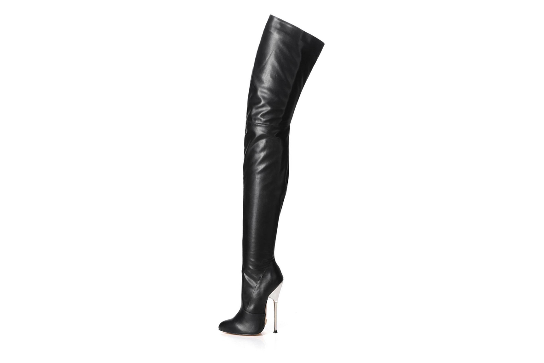 GIARO Bigger Black Matte Stiefel in Übergrößen Schwarz große Damenschuhe – Bild 1