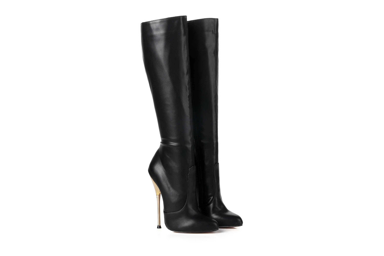GIARO Be Brave Black Matte Stiefel in Übergrößen Schwarz große Damenschuhe – Bild 5