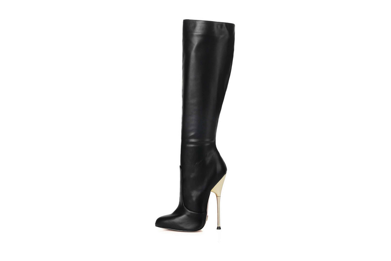 GIARO Be Brave Black Matte Stiefel in Übergrößen Schwarz große Damenschuhe – Bild 1