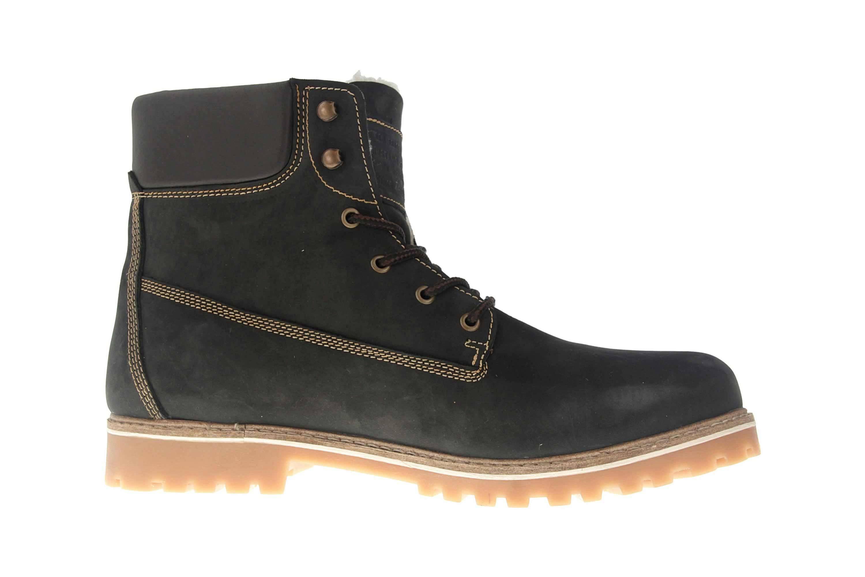 Mustang Shoes Boots in Übergrößen Schwarz/Braun 4875-605-93 große Herrenschuhe – Bild 4