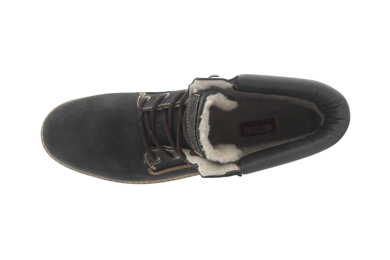 Mustang Shoes Boots in Übergrößen Schwarz/Braun 4875-605-93 große Herrenschuhe – Bild 7