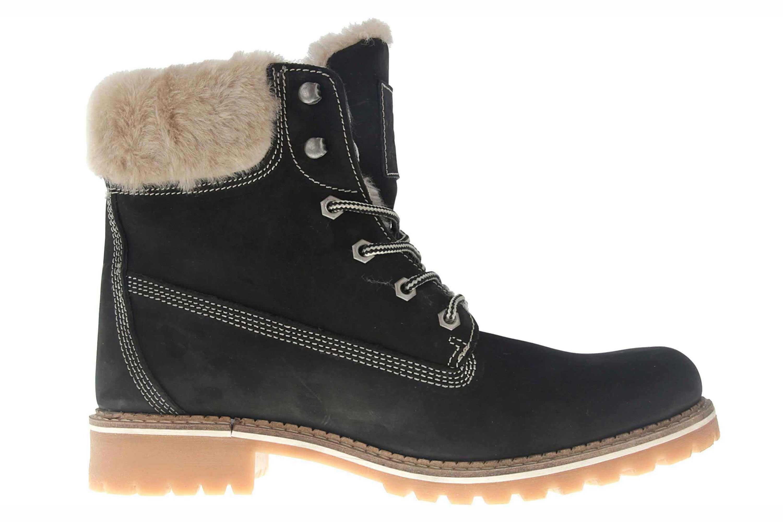 Mustang Shoes Boots in Übergrößen Schwarz 2837-606-9 große Damenschuhe – Bild 4