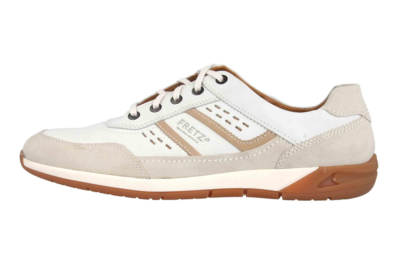 Fretz Men Toro Sneaker in Übergrößen Weiß 8811.6059-81 große Herrenschuhe – Bild 1
