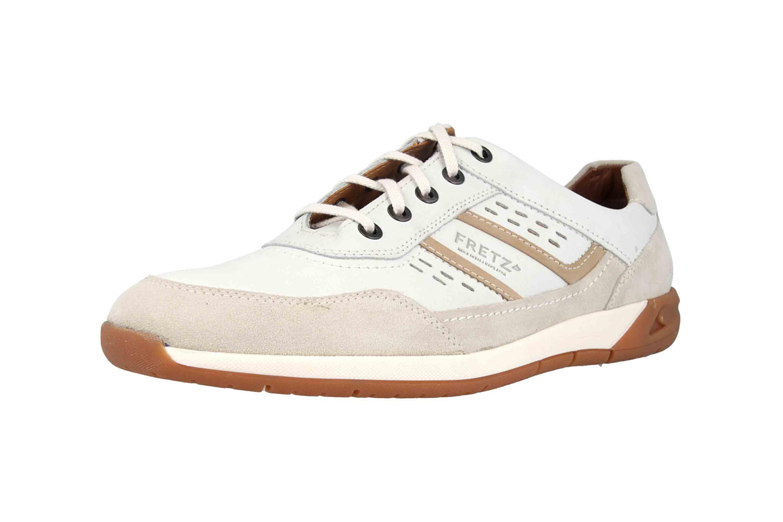 Fretz Men Toro Sneaker in Übergrößen Weiß 8811.6059-81 große Herrenschuhe – Bild 6