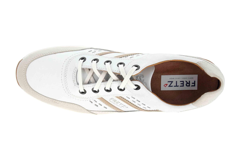 Fretz Men Toro Sneaker in Übergrößen Weiß 8811.6059-81 große Herrenschuhe – Bild 7