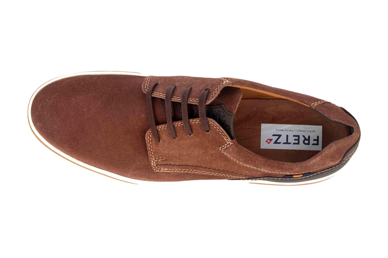 Fretz Men Montana Sneaker in Übergrößen Braun 4210.7459-82 große Herrenschuhe – Bild 7