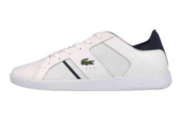 Lacoste Novas 119 1 SMA Sneaker in Übergrößen Weiß 37SMA0037042 große Herrenschuhe – Bild 1