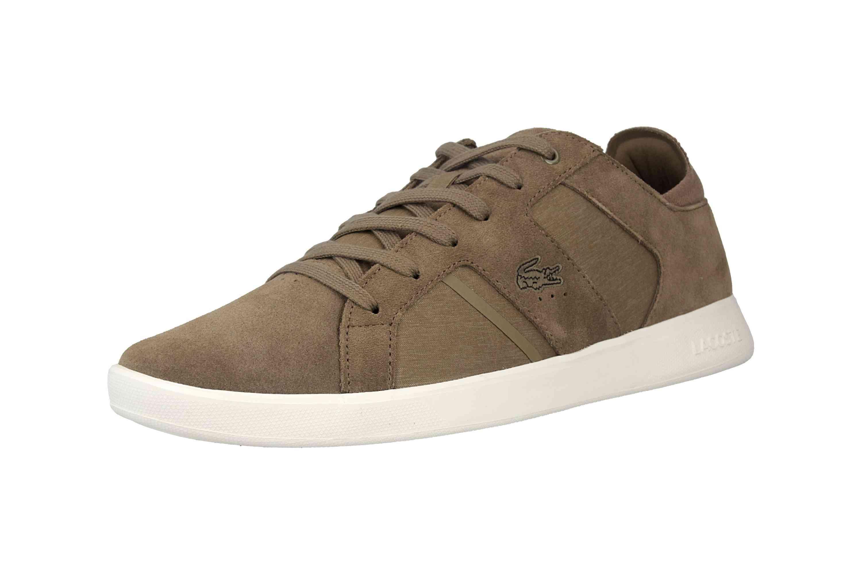 Lacoste Novas 119 3 SMA Sneaker in Übergrößen Braun 37SMA00382A9 große Herrenschuhe – Bild 6