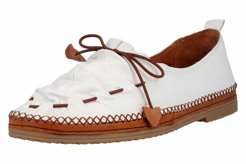 Manitu Slipper in Übergrößen Weiß 840755 3 große Damenschuhe – Bild 6