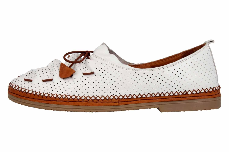 Manitu Slipper in Übergrößen Weiß 840790 3 große Damenschuhe – Bild 1