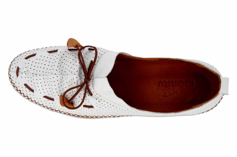 Manitu Slipper in Übergrößen Weiß 840790 3 große Damenschuhe – Bild 7