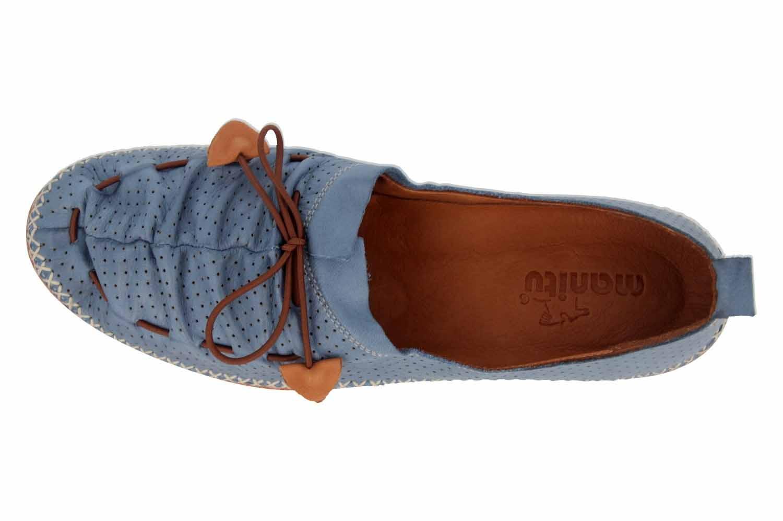 Manitu Slipper in Übergrößen Blau 840790 51 große Damenschuhe – Bild 7