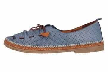 Manitu Slipper in Übergrößen Blau 840790 51 große Damenschuhe – Bild 1