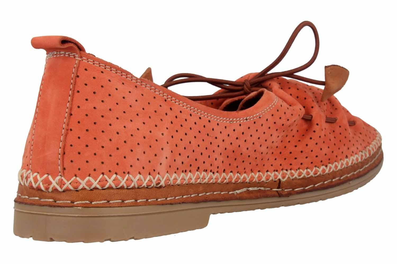 Manitu Slipper in Übergrößen Orange 840791 62 große Damenschuhe – Bild 3