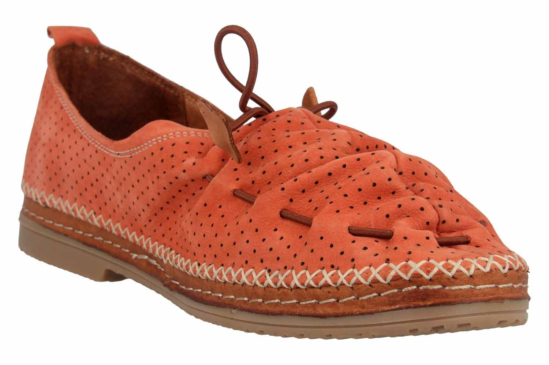 Manitu Slipper in Übergrößen Orange 840791 62 große Damenschuhe – Bild 5