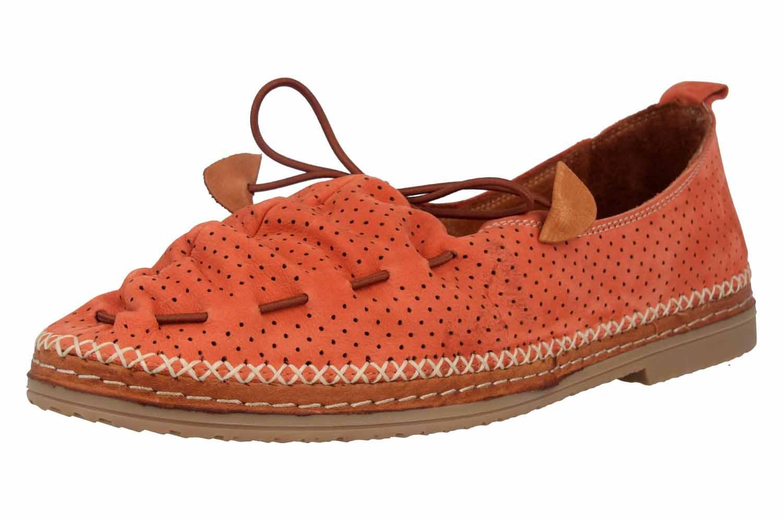 Manitu Slipper in Übergrößen Orange 840791 62 große Damenschuhe – Bild 6
