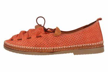 Manitu Slipper in Übergrößen Orange 840791 62 große Damenschuhe – Bild 1