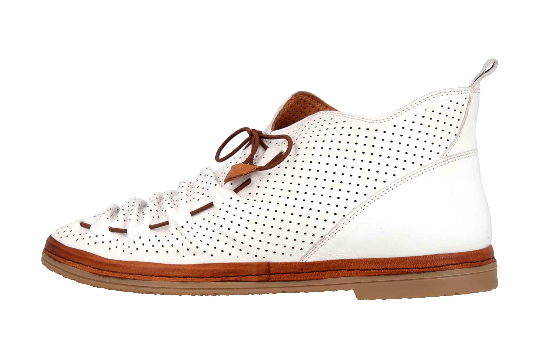Manitu Stiefel in Übergrößen Weiß 991333 3 große Damenschuhe – Bild 1