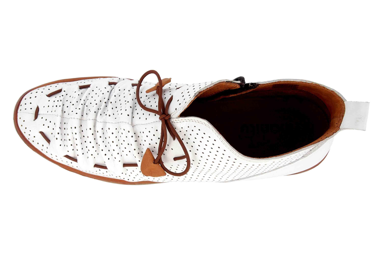 Manitu Stiefel in Übergrößen Weiß 991333 3 große Damenschuhe – Bild 7