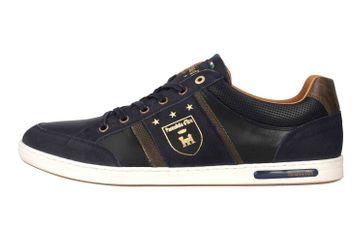 Pantofola d'Oro MONDOVI UOMO LOW Sneaker in Übergrößen Blau 10191017.29Y/10191066.29Y große Herrenschuhe – Bild 1