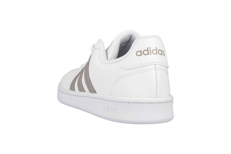 Adidas Grand Court Sneaker in Übergrößen Weiß F36485 große Damenschuhe – Bild 2