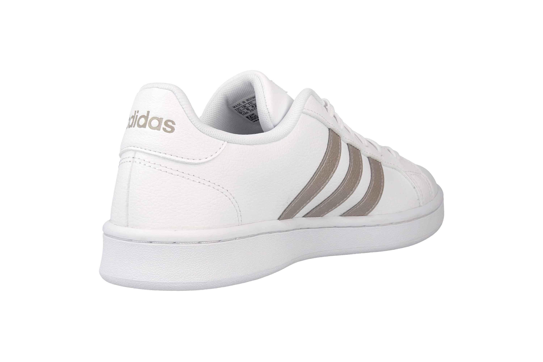 Adidas Grand Court Sneaker in Übergrößen Weiß F36485 große Damenschuhe – Bild 3