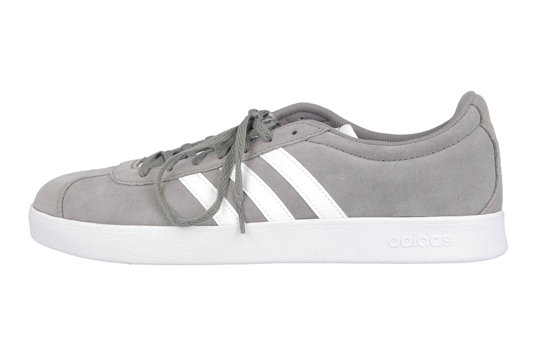 Details zu Adidas VL Court 2.0 Sneaker in Übergrößen Grau B43807 große Herrenschuhe