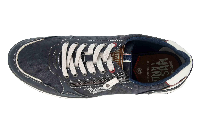 Mustang Shoes Halbschuhe in Übergrößen Blau 4095-316-820 große Herrenschuhe – Bild 7