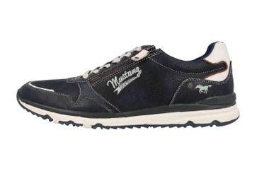 Mustang Shoes Halbschuhe in Übergrößen Blau 4095-316-820 große Herrenschuhe – Bild 1
