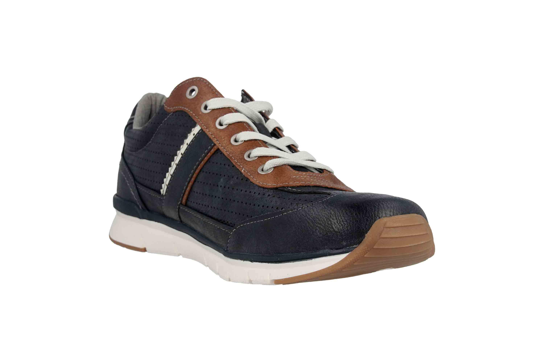 Mustang Shoes Halbschuhe in Übergrößen Blau 4137-301-820 große Herrenschuhe – Bild 5